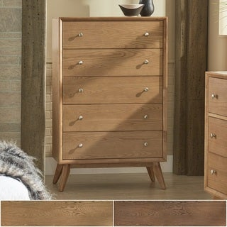 Sylvia Mid-Century 5-Drawer Wood Chest by iNSPIRE Q Modern
