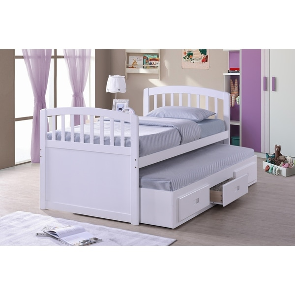 Shop Best Quality Furniture Twin Captain Bed With 3-drawer