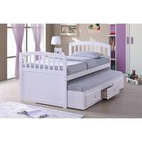 Best Quality Furniture 3-drawer Twin Captain Bed with Twin Trundle Bed