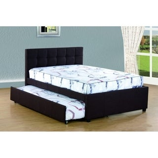 Best Quality Furniture Full Upholstered Panel Bed with Twin Trundle Bed