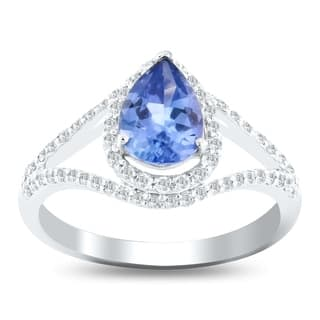 Auriya Platinum Certified 1 1/4ct Unheated Natural Color Change Sapphire and 1/3ct TDW Diamond Ring - White|https://ak1.ostkcdn.com/images/products/17983223/P24157077.jpg?impolicy=medium