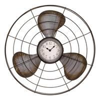 La Crosse Clock 404-3942 16.5 Inch Metal Fan Quartz Wall Clock