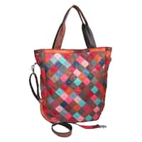 Amerileather Perlow Leather Tote Bag