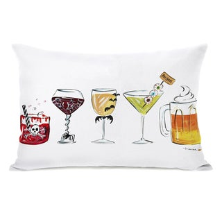 Hallowen Drinks - White inch Throw Pillow by Timree