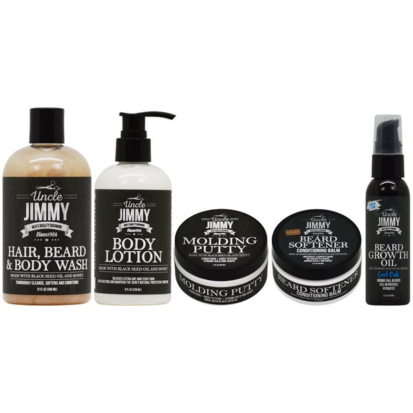 Uncle Jimmy Hair Body & Beard Growth Care 5-piece Collection 29920138