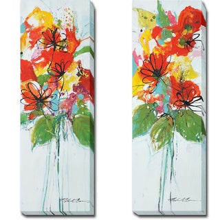Sensations I and II by Nancy Villareal Santos 2-piece Gallery-Wrapped Canvas Giclee Art Set