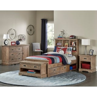 Hillsdale Oxford Bookcase Twin Bed with Storage, Cocoa