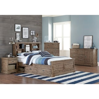 Hillsdale Oxford Bookcase Full Bed with Storage, Cocoa