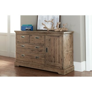 Hillsdale Oxford 4 Drawer Dresser with Door, Cocoa