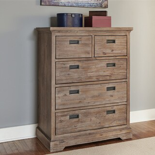 Hillsdale Oxford 5 Drawer Chest, Cocoa