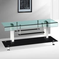 Best Quality Furniture 48-inch Modern Glass-top TV Stand