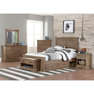 Hillsdale Oxford William Full Panel Bed with Storage, Cocoa