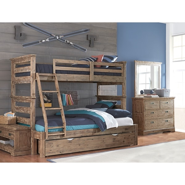 Shop Hillsdale Oxford Oliver Twin Over Full Bunk Bed with Trundle