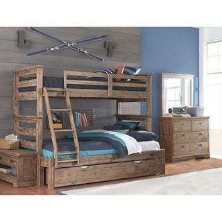 hillsdale oxford oliver twin over full bunk bed with trundle cocoa