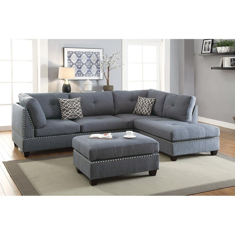Sectional Sofa Couch Reversible Chaise Ottoman Furniture: Sectional Sofas For Less