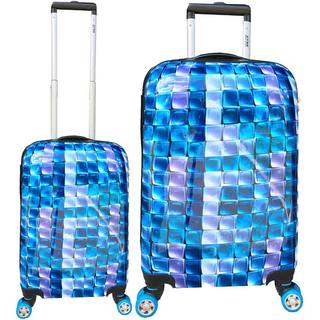 ATM Luggage 3-D Blue 2-piece Hardside Spinner Luggage Set