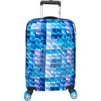 ATM Luggage 3-D Blue 30-inch Hardside Spinner Upright Suitcase