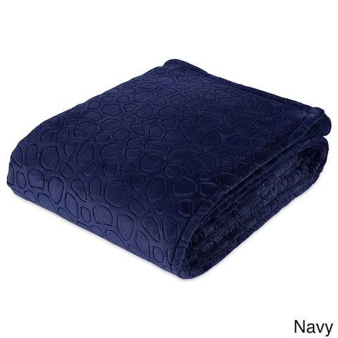 Berkshire Blanket PrimaLush Embossed River Stones Bed Blanket