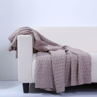 Berkshire Blanket Diamond Knit Textured Throw