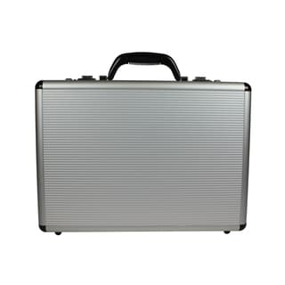 Link to World Traveler Fasano Aluminum Silver 4-inch-wide Attache Briefcase Similar Items in Briefcases
