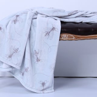 VelvetLoft Bee Swirl Throw