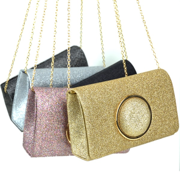 Shop Dasein Glitter Frosted Evening Clutch with Removable Chain ... 7d5c8e5fca0b