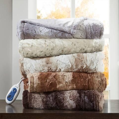 Beautyrest Marselle Oversized Faux Fur Heated Throw