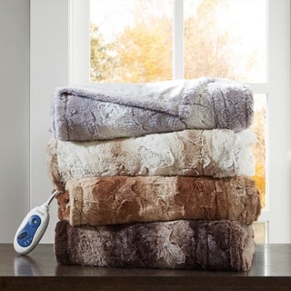 Beautyrest Marselle Oversized Faux Fur Heated Throw