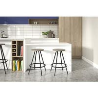 Novogratz Leo Black Counter Stool