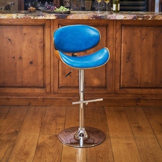 Corvus Madonna Mid-century Adjustable Swivel Bar Stool
