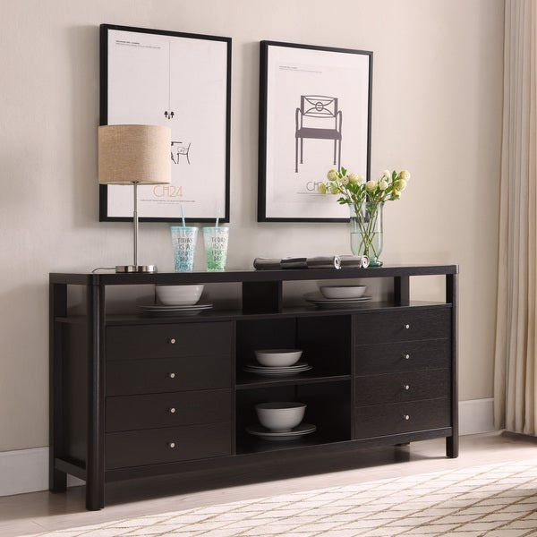 Furniture of America Caiz Contemporary 60-inch Brown 4-drawer TV Stand. Opens flyout.