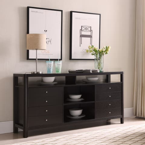 Furniture of America Caiz Contemporary 60-inch Brown 4-drawer TV Stand