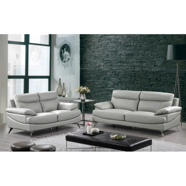 best quality furniture 2 piece upholstered leather sofa and loveseat set free shipping today. Black Bedroom Furniture Sets. Home Design Ideas