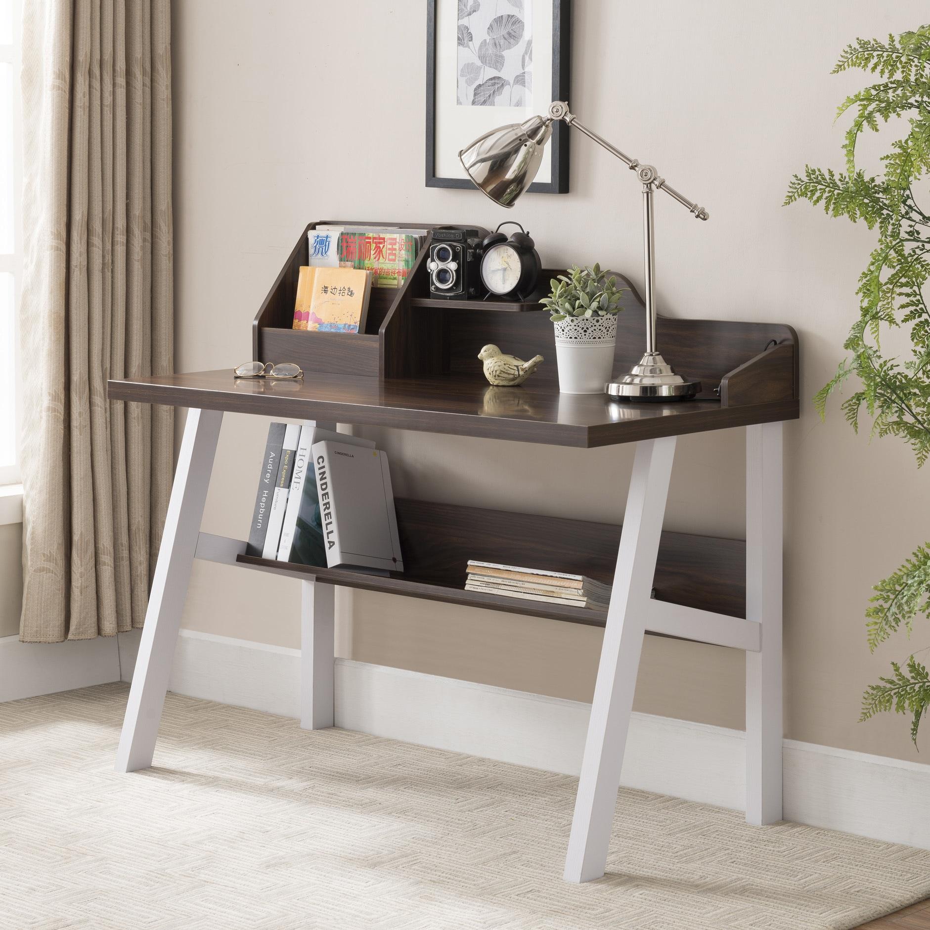Furniture Of America Ruct Contemporary Walnut 47 Inch Writing Desk
