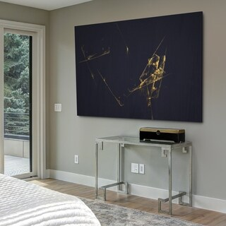 Gold on Blue II - Gallery Wrapped Canvas