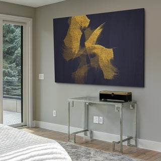 Gold On Blue - Gallery Wrapped Canvas