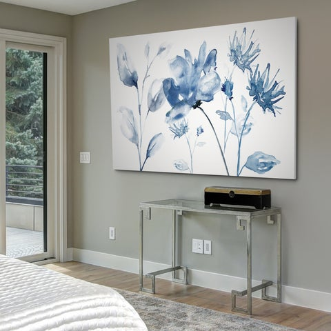 Translucent Blues II - Gallery Wrapped Canvas