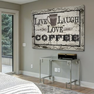 Live, Laugh, Love Coffee - Gallery Wrapped Canvas