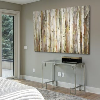 Birch Path - Gallery Wrapped Canvas - Off White/Brown