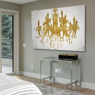 Golden Chandeiler II - Gallery Wrapped Canvas