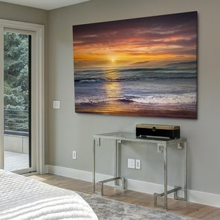 Sundown Descanso Beach - Gallery Wrapped Canvas