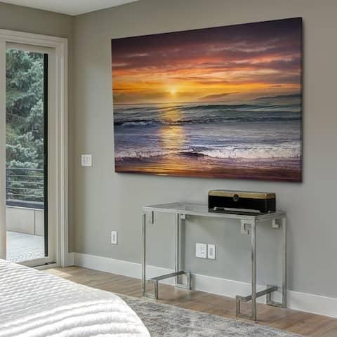 Sundown Descanso Beach - Gallery Wrapped Canvas
