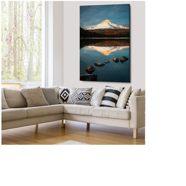 Trillium Lake Sunset - Gallery Wrapped Canvas