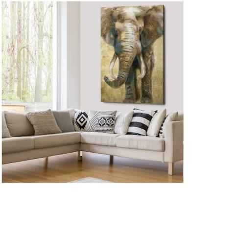 Summer Safari Elephant - Gallery Wrapped Canvas