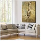 Summer Safari Giraffe - Gallery Wrapped Canvas