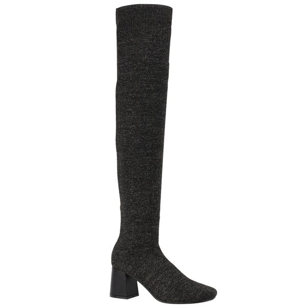 72490f24c ... Women s Shoes     Women s Boots. Beston EI94 Women  x27 s Stretchy Sock  Knitting Pull on Block Heel Thigh Hight