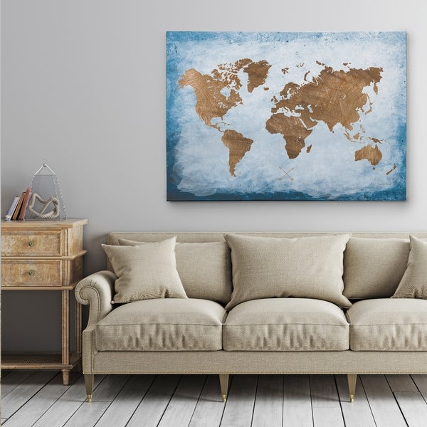 Shop washy world map gallery wrapped canvas on sale free washy world map gallery wrapped canvas gumiabroncs Gallery