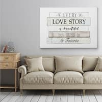 Every Love Story - Gallery Wrapped Canvas