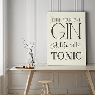 Gin & Tonic - Gallery Wrapped Canvas
