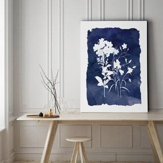 Indigo Botanical II - Gallery Wrapped Canvas